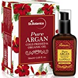 StBotanica Organic Moroccan Argan Pure Coldpressed Oil, 50ml (For Hair & Skin) - Ingredient Imported from Morocco