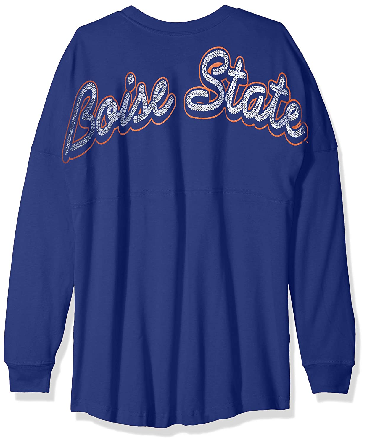 New Royal Medium NCAA Boise State Broncos Womens NCAA Womens Long Sleeve Mascot Style Teeknights Apparel NCAA Womens Long Sleeve Mascot Style Tee