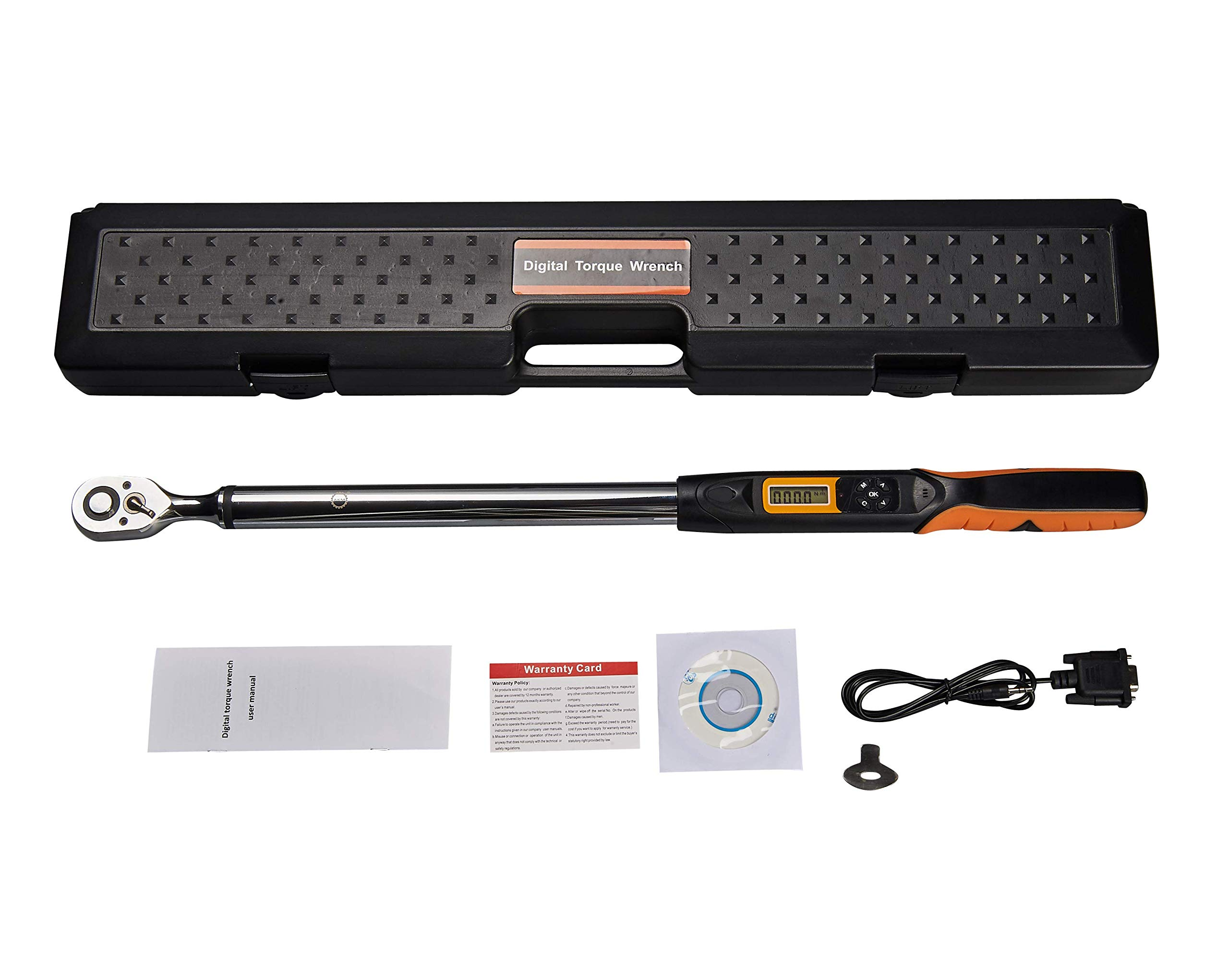 Digital Torque Wrench,AKM 1/2 Inch Drive 72-tooth 12.5-250Ft.Lbs/17-340N.m Accurate To 2% Clockwise & 2.5% Counterclockwise (2019 New Gen) by AKM (Image #2)