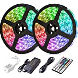LED Strip Lights, Attuosun 32.8feet/10M RGB 300Leds SMD5050 Waterproof Flexible Rope Lights, Color Changing Self…