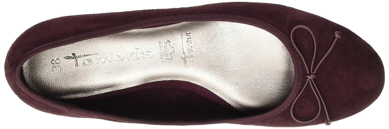 Tamaris 22201 Damen 22201 Tamaris Geschlossene Ballerinas Rot (Berry) d200d1