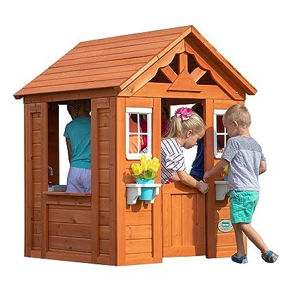 amazon com backyard discovery timberlake all cedar wood playhouse rh amazon com backyard discovery playhouse uk backyard discovery playhouse cedar