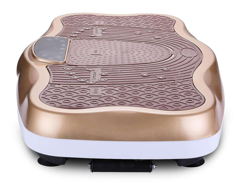 FITODO Vibrationsplatte Power Plate Vibrationstrainer F/ür Ganzk/örper Training/—/—Fernbedienung//Bluetooth Musik//Widerstandsb/änder//Geschwindigkeits Einstellbar Maximal belastung 150kg