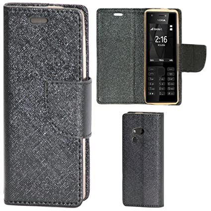 on sale b060d 998d5 Zaoma Diary Type Flip Cover for Nokia 216 - Black
