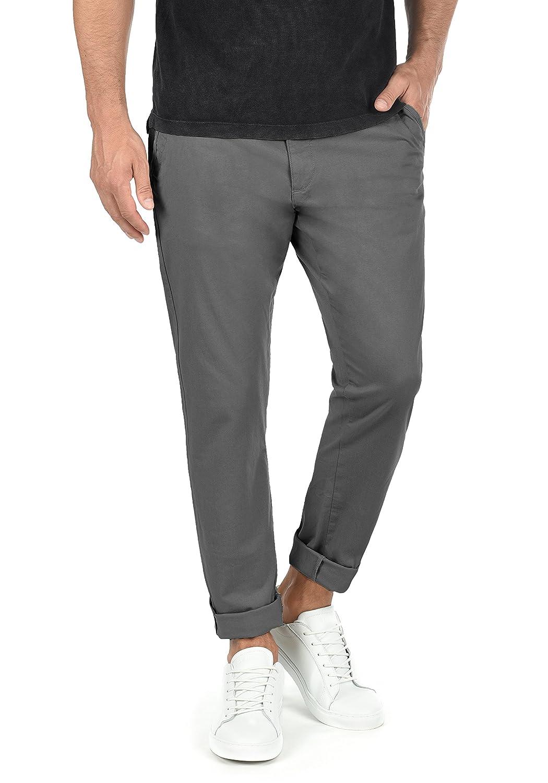 !Solid Machico Pantalón Chino Pantalones De Tela para Hombre con Cinturón Elástico Regular-Fit