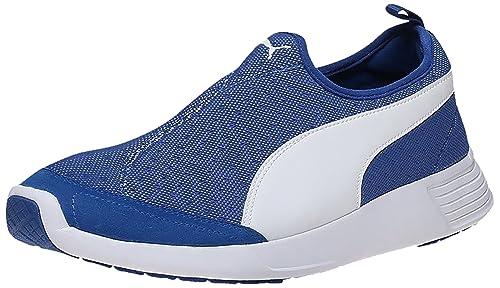 0f950fd2f63977 Puma Unisex s St Trainer Evo Slip-On Dp True Blue and White Running Shoes -