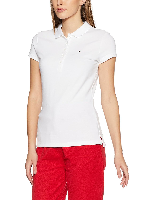 Tommy Hilfiger Women's New Chiara Str Pq Polo Ss Short Sleeve Polo Shirt T.H. Deutschland GmbH 1M87650126
