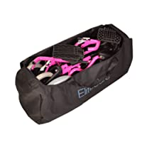 Deluxe Pink Ultra Lightweight Folding travel compact aluminium wheelchair in a bag with handbrakes
