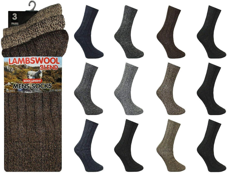 Mens Padded Wool Socks Winter Hiking Outdoor Mid Calf Boot Sock Lot UK Size 6-11