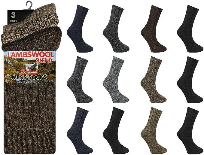 Men/'s Thermal Wool Socks Work Hiking Boot Winter Warm Sports Thick Socks UK 6-11