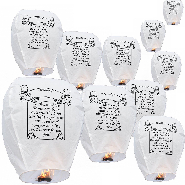 Deseando linternas en blanco de la memoria, biodegradable ...