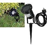 Faretto da giardino GU10230V orientabile Nero–IP44/IP68–con attacco 1,5m cavo di rete