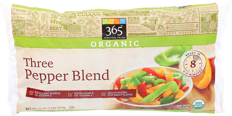 365 Everyday Value, Organic Three Pepper Blend, 16 oz, (Frozen)