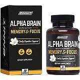 ONNIT Alpha Brain (30ct) - Premium Nootropic Brain Supplement - Focus, Concentration & Memory - Alpha GPC, L Theanine & Bacop