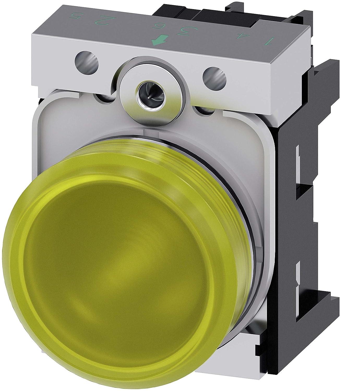 Siemens 3SU1152-6AA30-1AA0 24V Amarillo indicador de luz ...