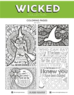 Coloring Broadway Wicked Card Stock Pages 8 1 2 X 11