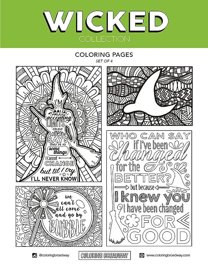 Coloring Broadway - Tarjetas de colores para colorear (4 unidades ...