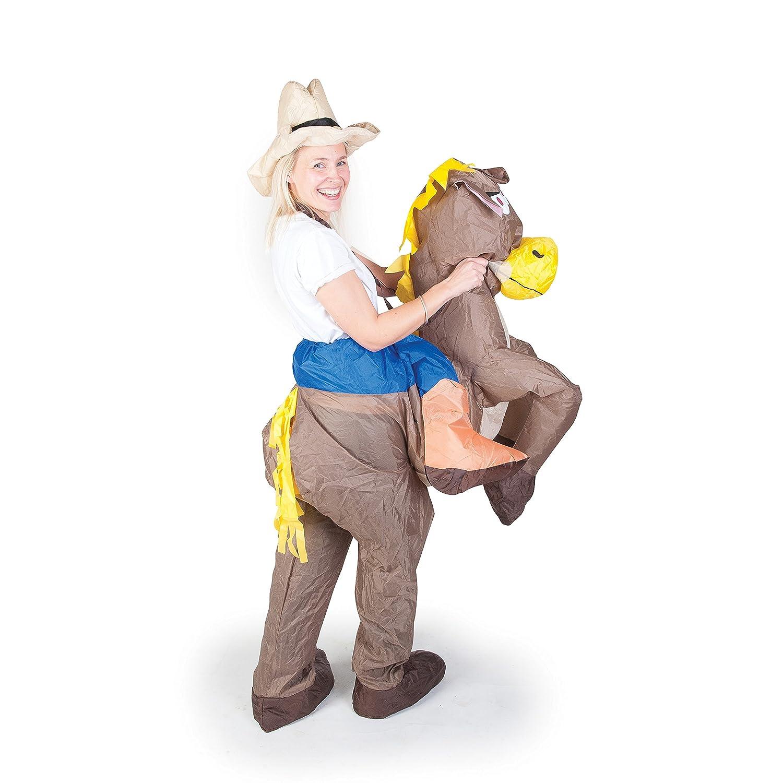 AirSuits Aufblasbares Kostüm Pferd und Cowboy Fasching Karneval ...