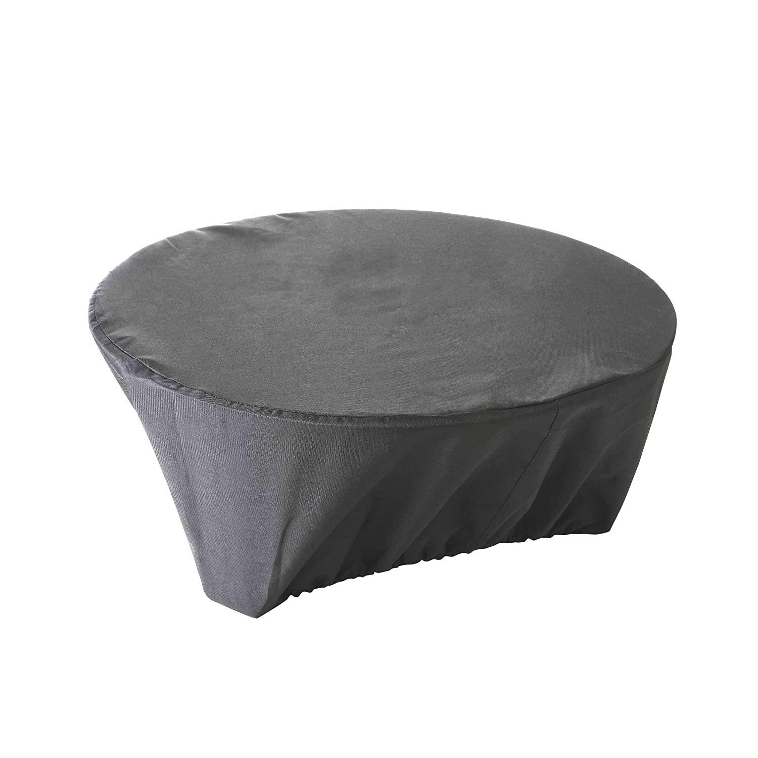 High Quality Waterproof Protective Cover for Firebasket Anthracite Coloured Polyester 80 cm x h 30 cm QUATTRO DIFFUSION