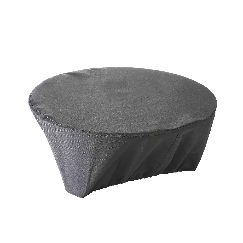 Housse de protection imperméable pour brasero Haute Qualité polyester doublée PVC D 60 x h 30 cm couleur Anthracite QUATTRO DIFFUSION