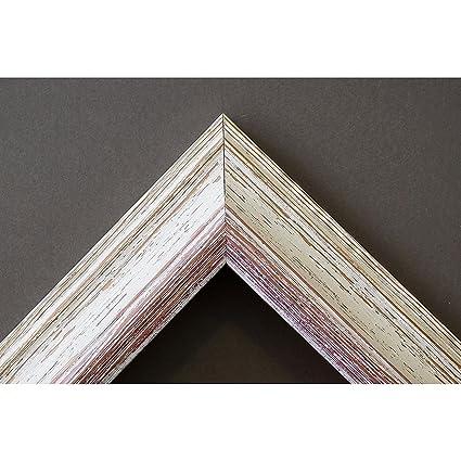 Artecentro Cornice per Quadri Tele - Shabby Chic Bianco-Colore in Legno  Varie Misure Offerta (Bianco/Rosso, 24x30)