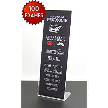 Amazon.com - 100 Slanted Photo Booth Frames with Inserts for 2x6 ...