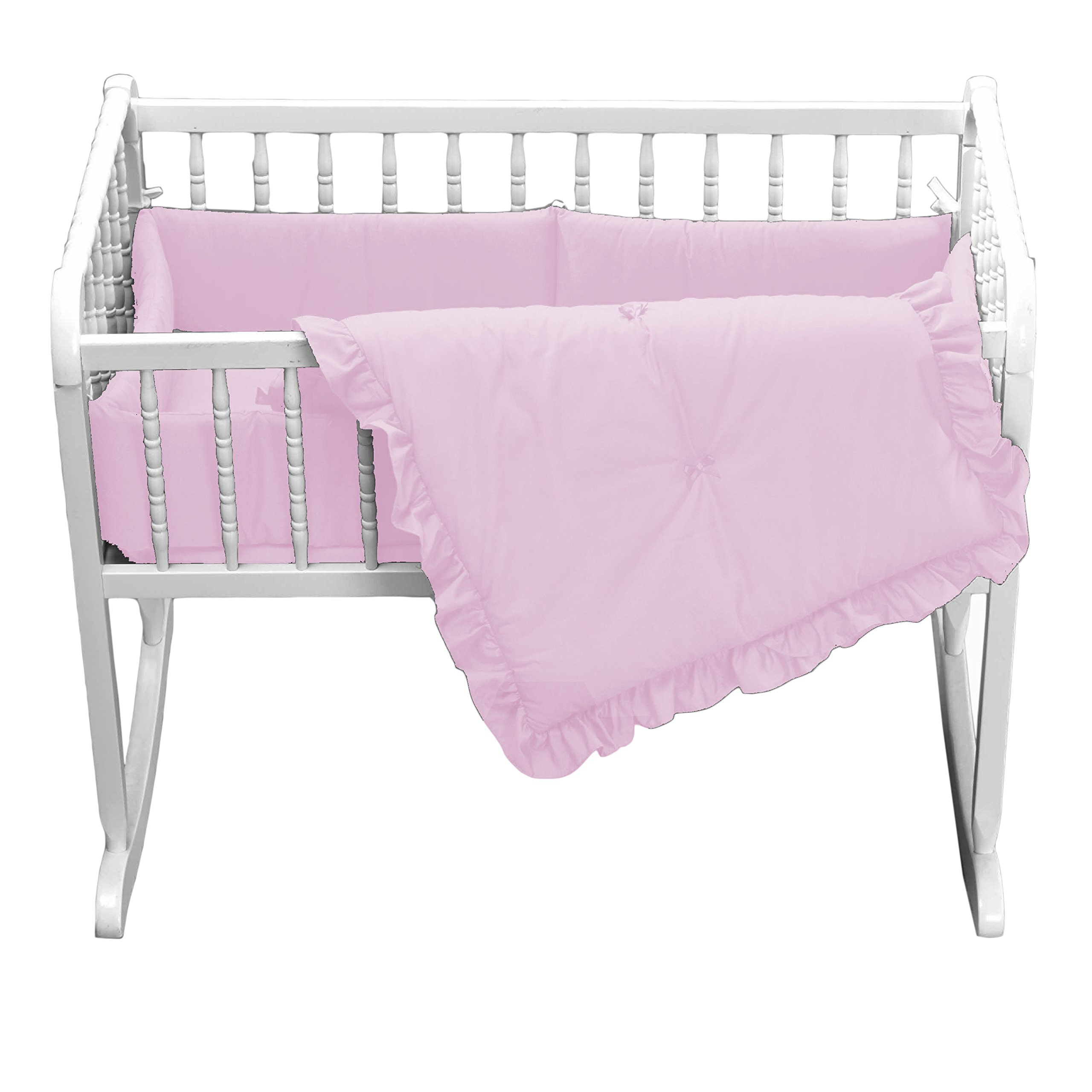 Babydoll Primary s Cradle Bedding, Pink, 18''x36''