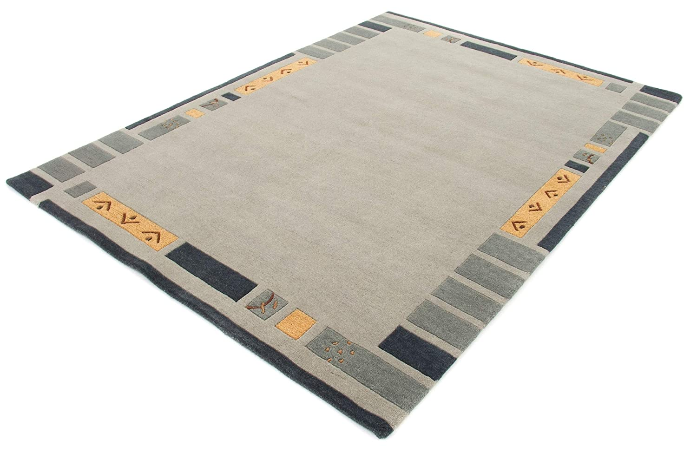 CarpetFine CarpetFine CarpetFine  Nepal Jaipur Teppich 90x160 cm Grün - Einfarbig B07GBZ75WL Teppiche 13a194