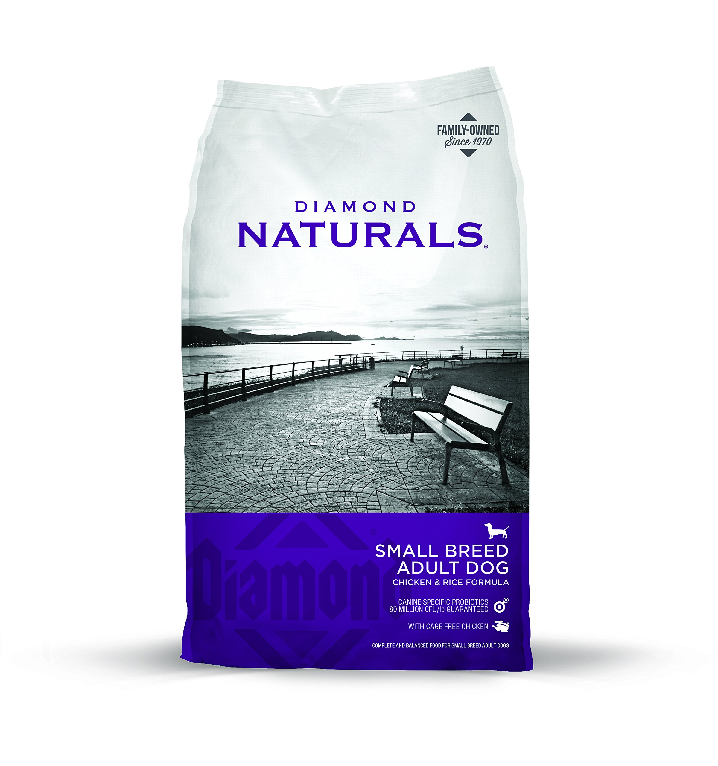 Diamond Naturals Small Breed Adult Real Meat Recipe Dry Dog Food with Natural Ingredients and Real Cage Free Chicken 18lb
