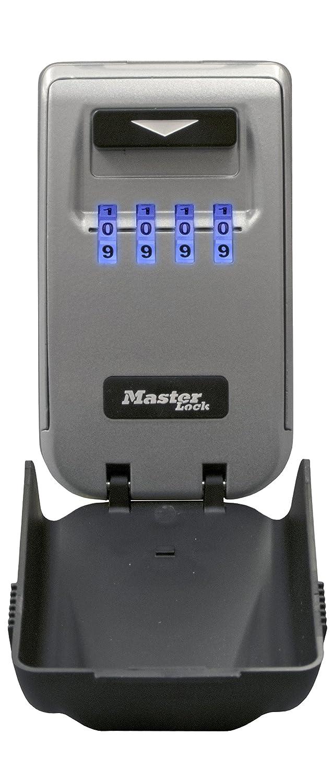 Masterlock 5425EURD - Caja Fuerte (Caja Fuerte de Pared, Electró nico, Llave, Gris, Pared, Llave, Pequeñ os aparatos electró nicos, Baterí a) Electrónico Pequeños aparatos electrónicos Batería)