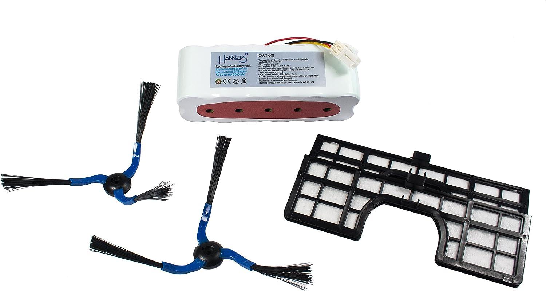 Batería, 2 cepillos laterales y 2 filtros para Samsung Navibot Sr/VCR 8847, 8848, 8849, 8850, 8855, 8857, 8875, 8877, 8895, 8990 de Hannets –: Amazon.es: Electrónica