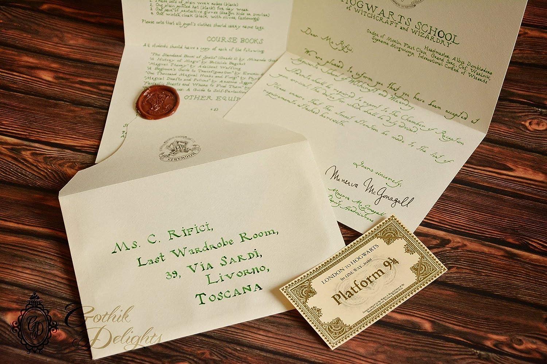 Custom Hogwarts Acceptance Letter.Handwritten Hogwarts Acceptance Letter Harry Potter Or Custom