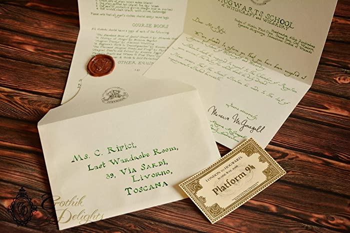Amazon.com: Handwritten Hogwarts Acceptance letter, Harry Potter