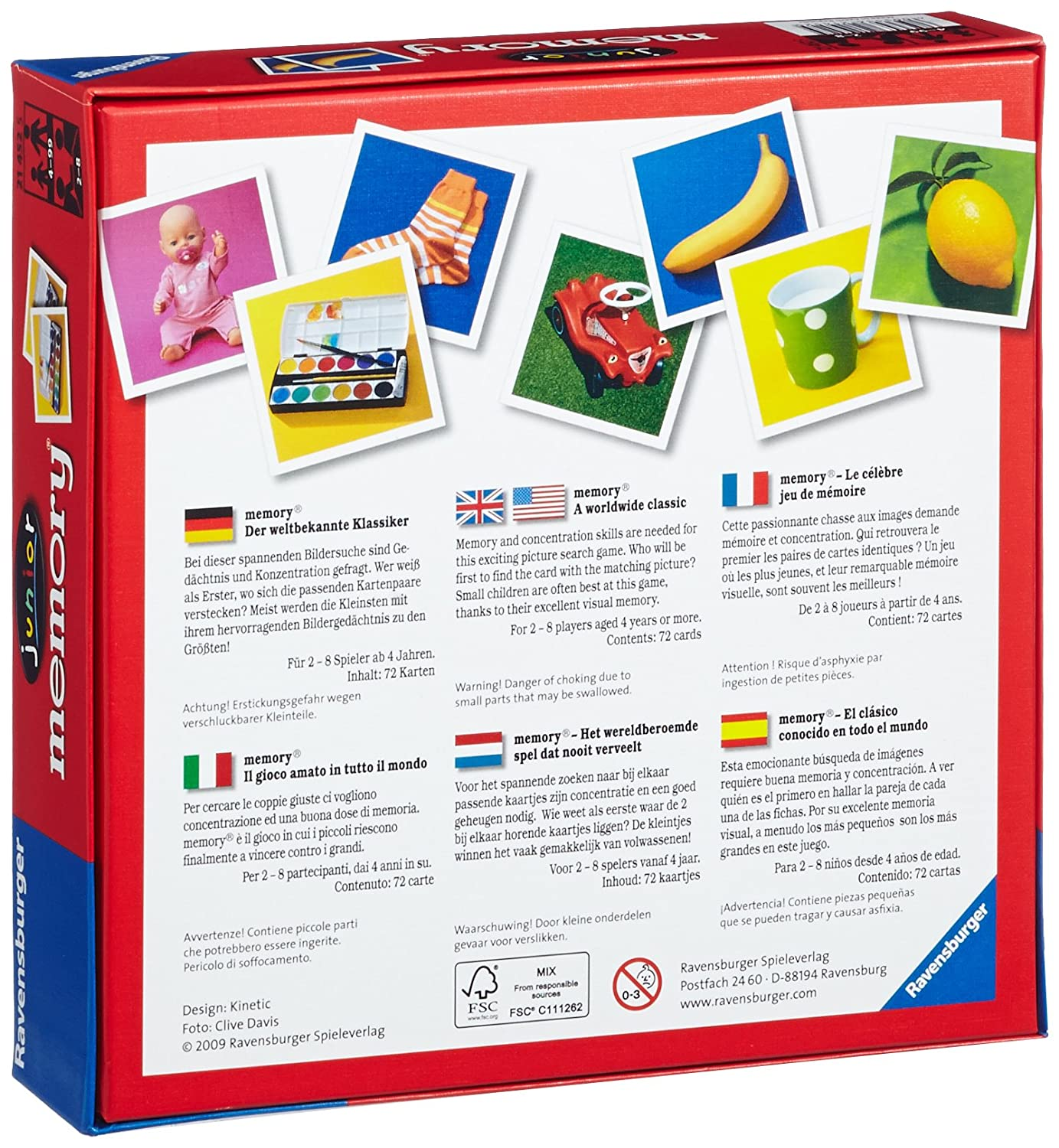 Amazon.com: Ravensburger Junior Memory Board Game: Toys & Games