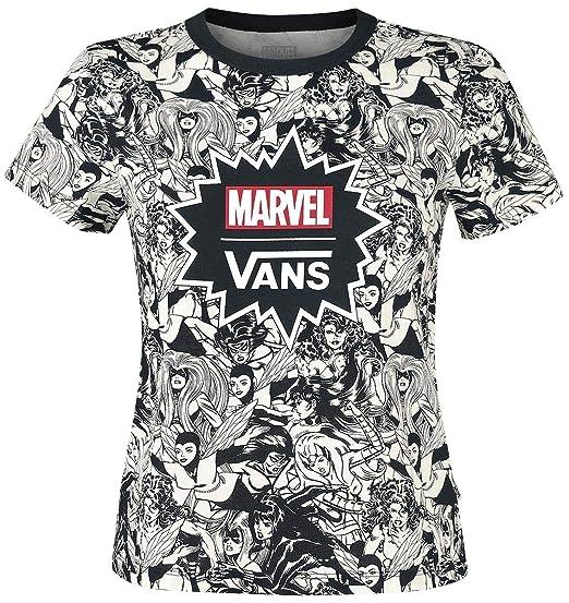 2753f9ac73f3 Vans Marvel - Playera, Black 196, Medium: Amazon.com.mx: Ropa ...