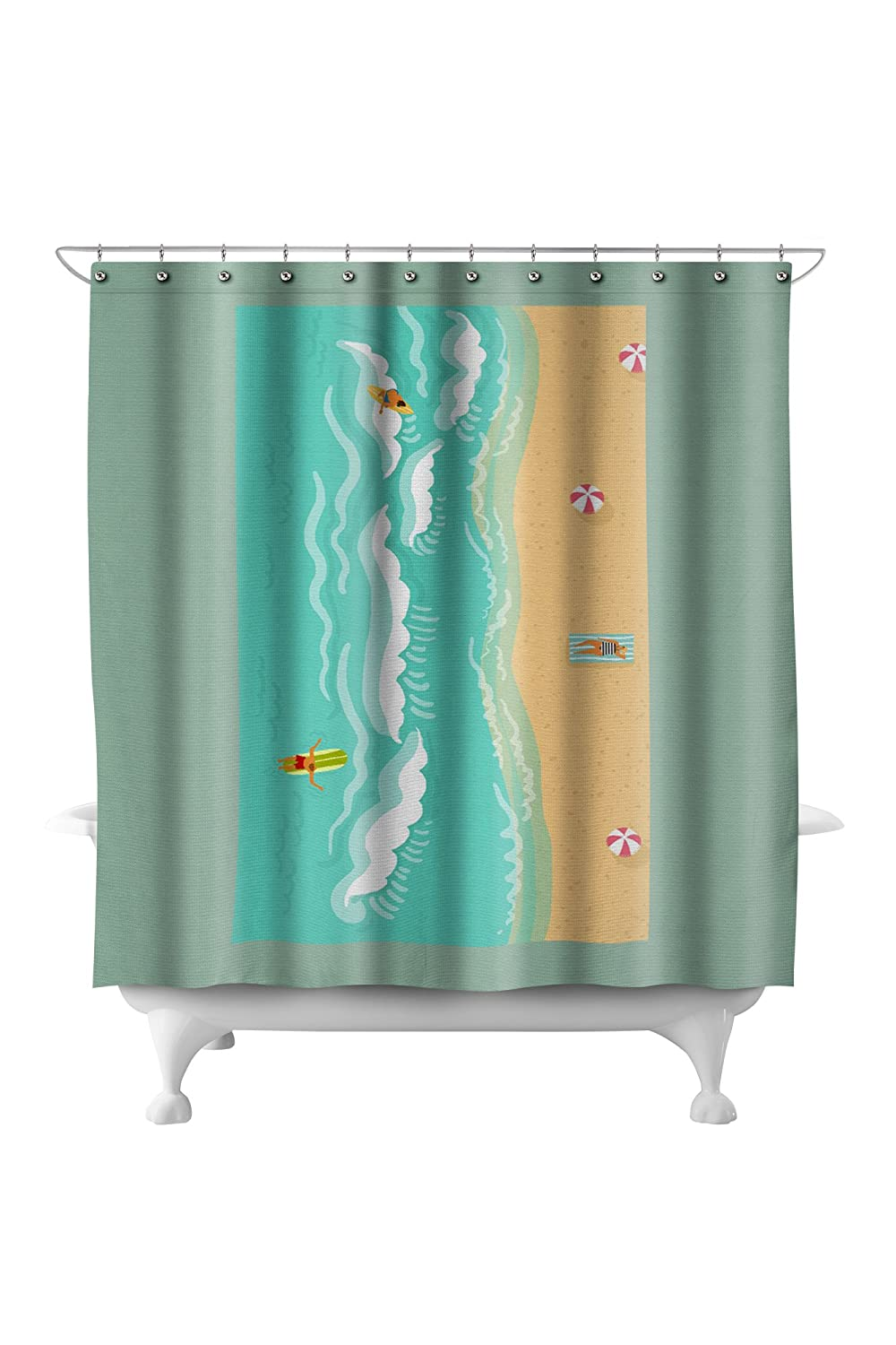 Amazon Aerial Ocean Scene 71x74 Polyester Shower Curtain Home Kitchen