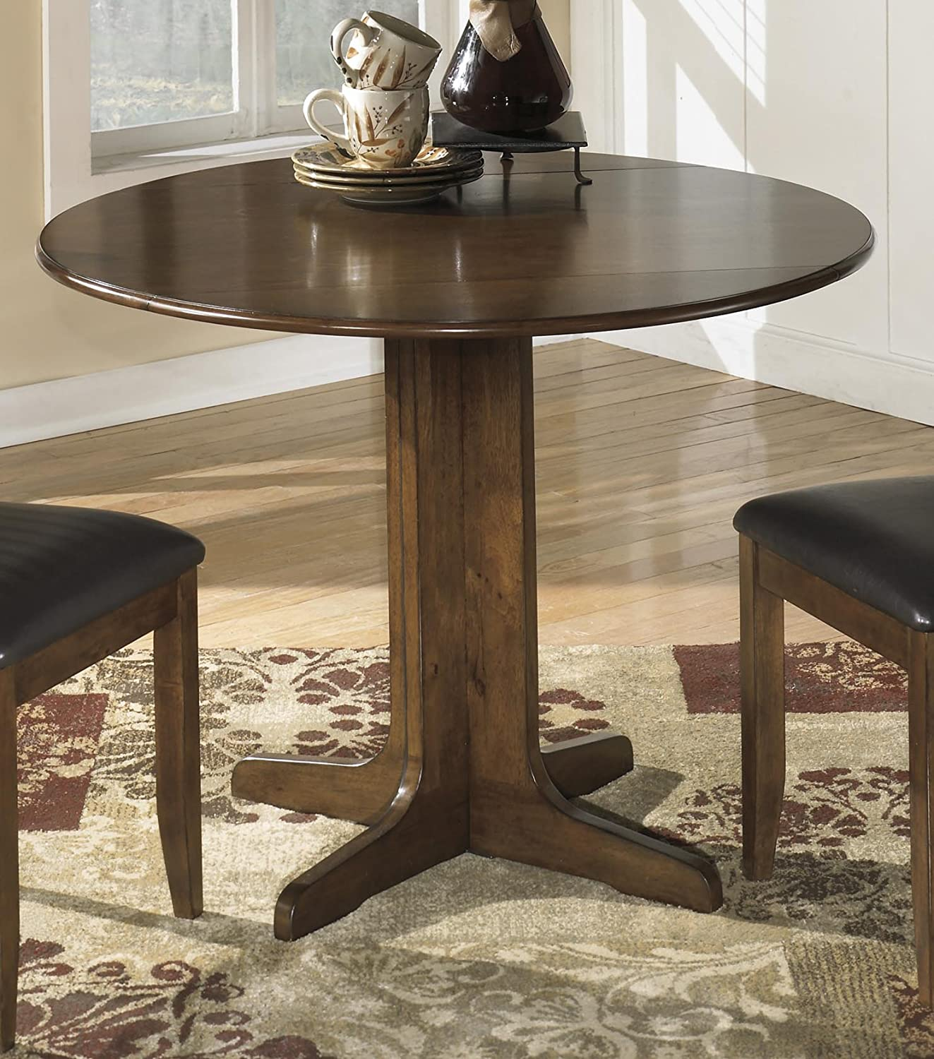Amazon Com Round Drop Leaf Table Signature Design By Ashley