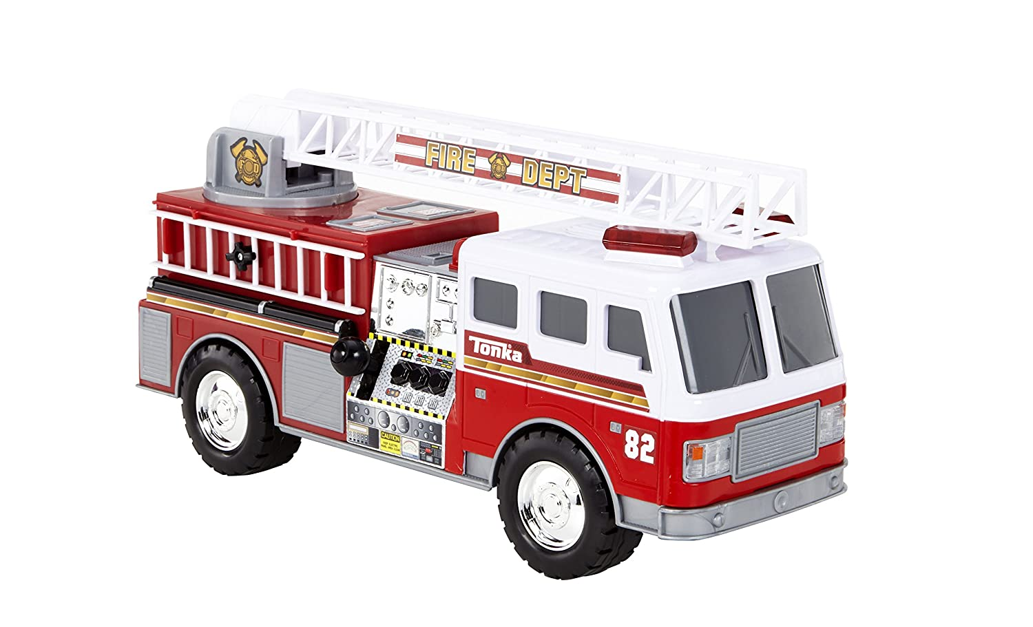amazon com tonka mighty motorized fire truck toys games