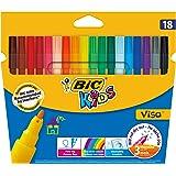 BIC Kids Visa Feutres de Coloriage - Etui Carton de 18