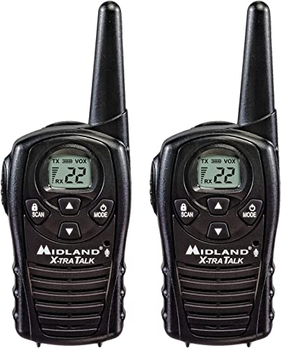 Midland - LXT118, FRS Walkie Talkies with Channel Scan