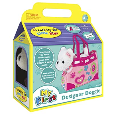 Creativity for Kids Designer Doggie - Decorate and Play, Plush Dog Toy and Carrier Purse: Toys & Games