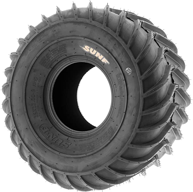 Set of 2 SunF 25x12-9 25x12x9 ATV UTV A//T Replacement Race 6 PR Tubeless Tires A033 POWER I,