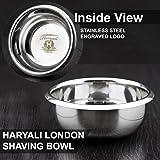 Haryali London Classic Stainless Steel Shaving Bowl by Haryali London