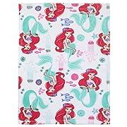 Disney Ariel Ocean Beauty French Fiber Baby Blanket, Pink/Aqua/White