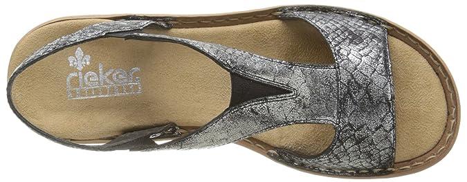 Rieker Damen 608B6 90 Sandalen, Silber Argent (Altsilber UUYZb