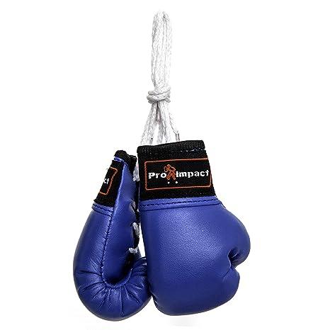 Pro impacto Mini guantes de boxeo (1 par azul)