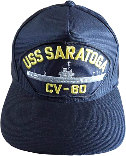 USS SARATOGA CV-60 US NAVY SHIP HAT OFFICIALLY LICENSED BALL CAP