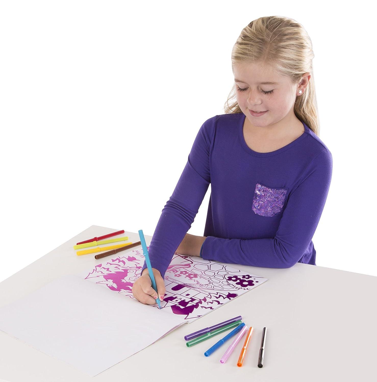 Melissa /& Doug  Playtime Foil Coloring Pad