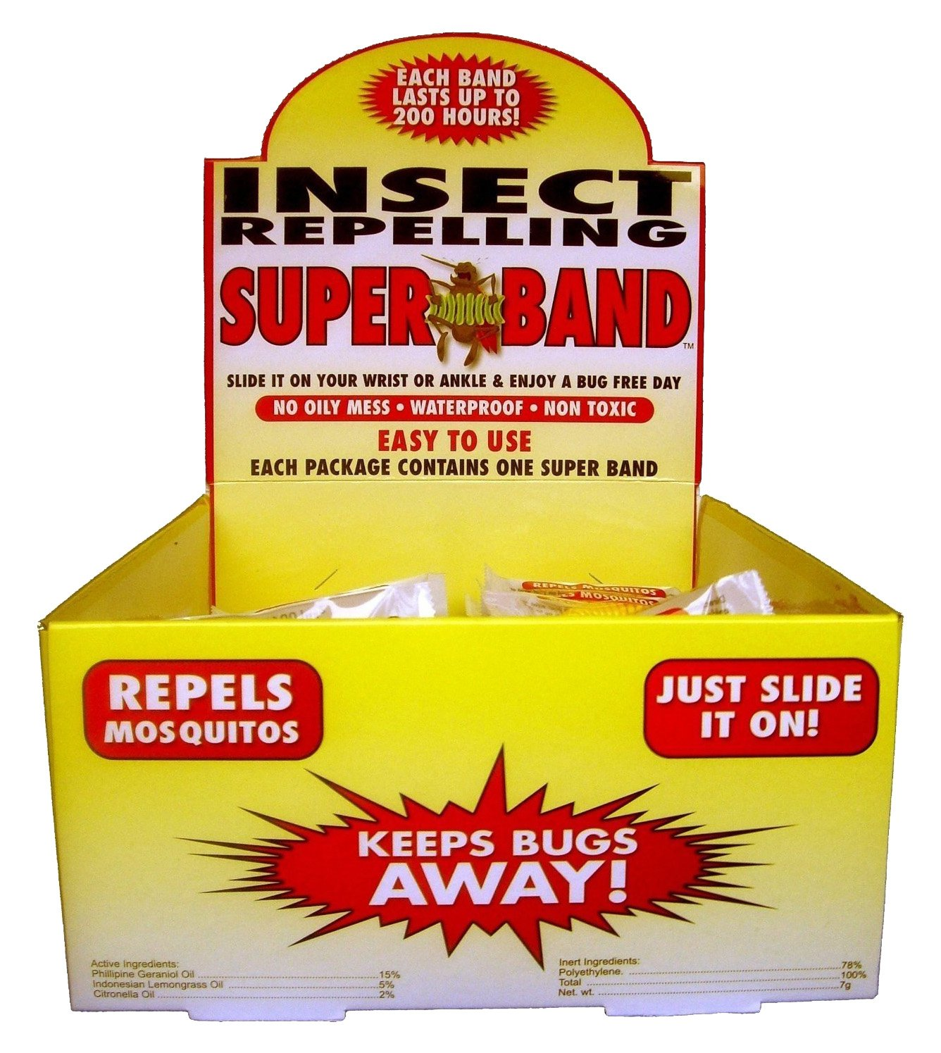 Evergreen Research ''SuperBand'' Insect Repelling Wrist Band, 100 Piece