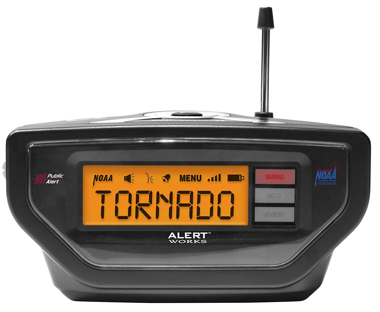 Amazon alert works ear 10 weather alert all hazard radio amazon alert works ear 10 weather alert all hazard radio black home audio theater buycottarizona Image collections